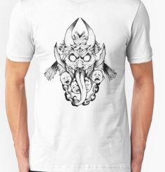 krampus pencil drawn tshirt