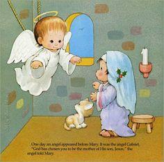 un ángel anuncia el nacimiento de jesúsBY Maria Elena Lopez