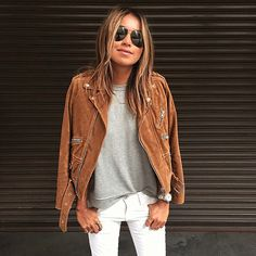 Wanted: the perfect casual outfit and suede jacket Sincerley Jules Mode Outfits, Fall Outfits, Casual Outfits, Looks Style, Style Me, Look Fashion, Womens Fashion, Fashion Trends, Fall Fashion