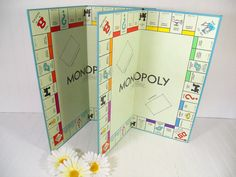 Vintage Monopoly Game Boards Set of 2 - Retro Pieces for Repurposing Upscaling Upcycling - Collection of Colorful Sturdy Flats for Projects $12.00 by DivineOrders