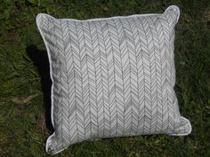 A personal favorite from my Etsy shop https://www.etsy.com/listing/235805325/feather-pillow-grey-and-white