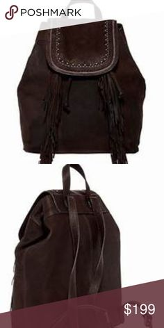 2d5f0635f9 SALE! Lucky Brand Zori Leather Backpack - Single top carry handle - Dual  adjustable backpack straps - Foldover magnetic snap flap with inner  drawstring ...