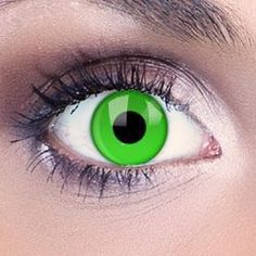 Light up your look with these amazing Green UV Contact Lenses. These super-bright green contacts glow under UV light, perfect for clubbing and Halloween. Our Green UV Contact Lenses make a real statement and look fantastic for clubbing and Halloween. Each UV contact lens is fully UV-reactive and glows brightly. They also look great in the daytime, perfect for freaky style. UV reactive contact lenses Available as a single lens or pair Exceptional full day comfort 90 day life spa...