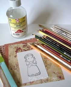 coloring with Prismacolor pencils