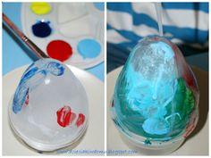 malowanie lodowych jaj - kreatywna zabawa dla dzieci / painting on ice eggs