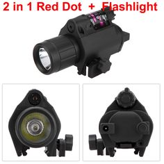 2 in 1 Red Dot Sight Laser Rifle Scope Riflescope + Tactical Flashlight Torch Caza Hunting Scopes Optical Sight Riflescopes
