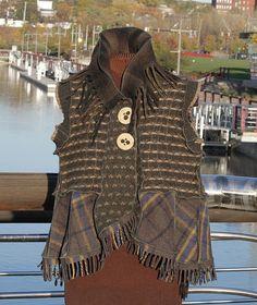 The Map-less Wanderer: reconstructed vest jacket | by Secret Lentil