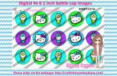 1' Bottle caps (4x6) Digital hello kitty C2134 PLEASE VISIT http://craftinheavenboutique.com/AND USE COUPON CODE thankyou25 FOR 25% OFF YOUR FIRST ORDER OVER $10! #bottlecap #BCI #shrinkydinkimages #bowcenters #hairbows #bowmaking #ironon #printables #printyourself #digitaltransfer #doityourself #transfer #ribbongraphics #ribbon #shirtprint #tshirt #digitalart #diy #digital #graphicdesign please purchase via link http://craftinheavenboutique.com