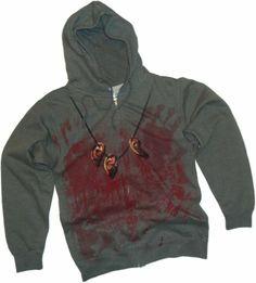 Daryl Dixon Costume -- The Walking Dead Hoodie Zipper-Fleece Sweatshirt