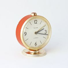vintage russian mechanical alarm clock