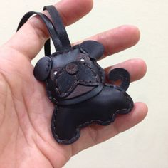 Bob the Pug Leather Charm with leather strap  by leatherprince, $25.90