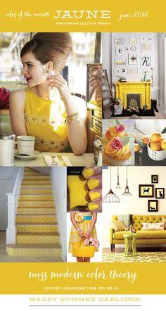 Miss Modern Color Theory | Yellow  #dearmissmodern #deluxemodern design