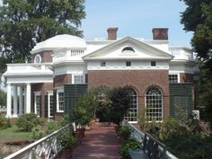 Monticello Interior | This path is the roof of the underground rooms where some of the work ...