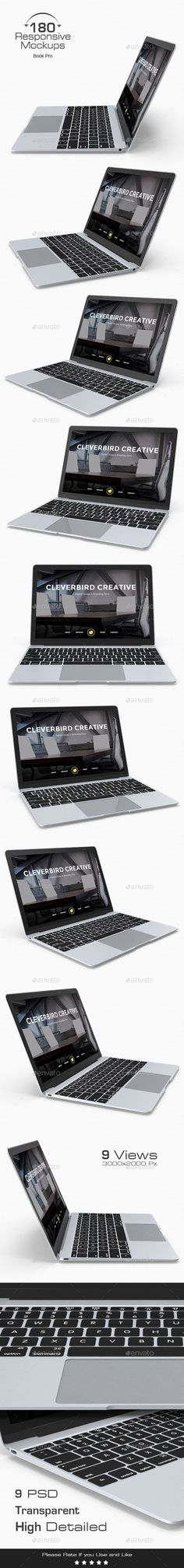 180 Responsive 3D Mockup - Mac Book Pro. Download here: http://graphicriver.net/item/180-responsive-3d-mockup-mac-book-pro-/16607941?ref=ksioks