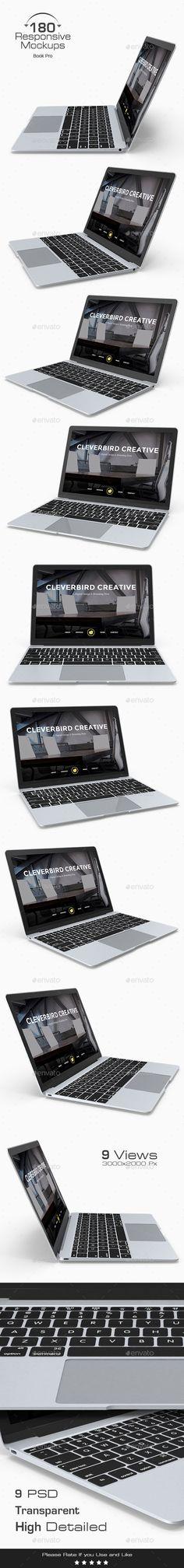 180 Responsive 3D Mockup - Mac Book Pro