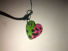 clay pendent by AuntShanas on Etsy