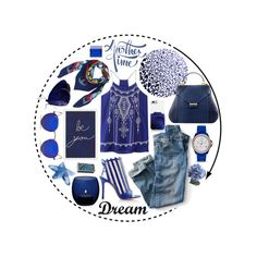 Into the blues with @AEVHALondon @HeronDesignStud & @KTZOVOLOU_SHOES by atmayfair on Polyvore featuring FOSSIL, Ray-Ban, Lalique, Pottery Barn, NOVICA, Dot & Bo, LSA International, Crate and Barrel and Nomess