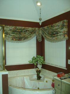 turban idea for my bathroom Decor, Corner Window Treatments, Windows, New Homes, Drapes Curtains, Home Decor, Curtains, Custom Drapery, Window Treatments