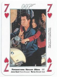 JAMES BOND 007 - SINGLE PLAYING CARD - FILMS 11 - 19 - SEVEN OF HEARTS