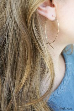 Make awesome gold hoop earrings in under 10 minutes