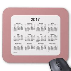 2017 Rosey Brown Calendar by Janz Mousepad