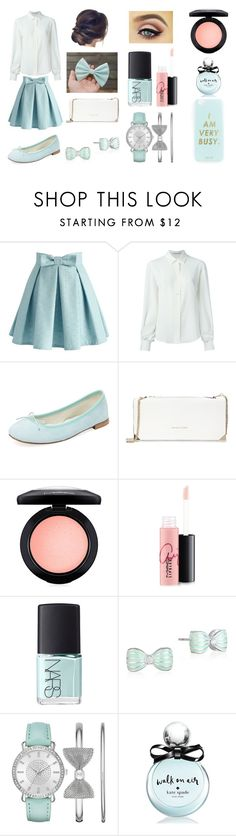 """""""Little 'Bow' Peep"""" by socupcakechic ❤ liked on Polyvore featuring Chicwish, Agnona, Repetto, Trina Turk, MAC Cosmetics, NARS Cosmetics, Mixit, Folio, Kate Spade and Miss Selfridge"""