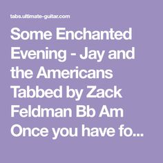 Ukulele chords java jive the ink spots jims ukulele songbook some enchanted evening jay and the americans tabbed by zack feldman bb am once you fandeluxe Images