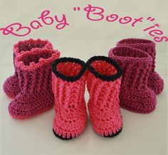 Baby Boots Booties Pattern Free!