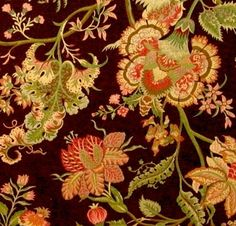 New Remnants Just listed at RestorationFabricsAndTrims.com including this Outstanding Jacobean Upholstery Fabric