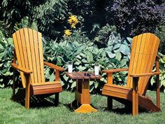 Perfect Adirondack chairs have curved backs and rolled seats - no sharp edges. Like this one: How to Build an Adirondack Lawn Chair - Plans for Building an Adirondack Chair - Popular Mechanics Lawn Furniture, Backyard Furniture, Furniture Projects, Wood Projects, Outdoor Furniture, Plywood Furniture, Furniture Design, Outdoor Projects, Outdoor Decor