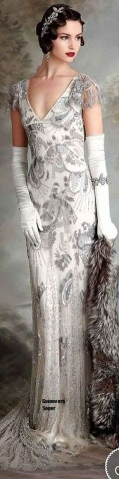 glamour of bygone days - Elizabeth Jane Howell Vintage Debuntante Collection 2015 2016 RTW (Great Gatsby Gown) Great Gatsby Gown, Look Gatsby, Great Gatsby Style, Vintage Glam, Vintage Mode, Looks Vintage, Vintage Inspired, Vintage Dresses, Vintage Outfits