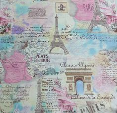 PERFECT! Hey, I found this really awesome Etsy listing at https://www.etsy.com/listing/184666307/paris-fabric-pastel-colors