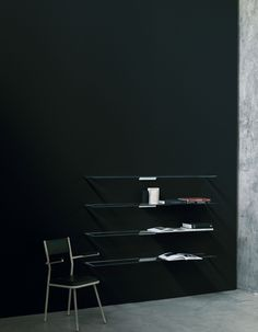 Shine Shelves by GlasItalia - Via Designresource.co Storage Units, Shelves, Interior Design, Trendy Tree, Italy, Corning Glass, Nest Design, Shelving, Home Interior Design