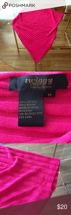 ✂️FINAL OFFER✂️ Hot pink twiggy wrap sweater. M Hot pink unique wrap stylish sweater by twiggy London. twiggy London Sweaters Shrugs & Ponchos