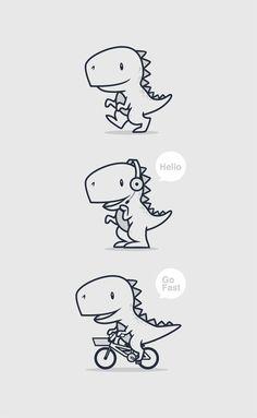 draw a cute T-REX icon/mascot by kelinciedan