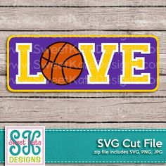 Love with Basketball SVG