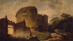mausoleum of caecilia metella   Tomb of Cecilia Metella - Hubert Robert - Drawings, Prints and ...