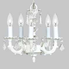 Chandelier - 5-arm Stacked Glass Ball - White | Jack and Jill Boutique
