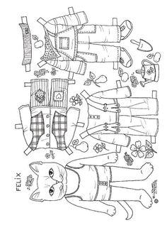 Cats paper dolls 26
