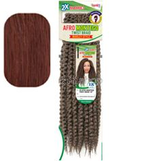 "Noir 2X Mambo Afro Montego Twist 18"" - Color 33 - Synthetic Braiding"