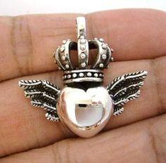 heart, crown, wings
