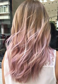 Super Hair Balayage Pink Blonde Ombre Ideas You are in the right place about ombre hair mel He Blonde To Pink Ombre, Blonde With Pink, Blonde Pink Balayage, Blonde Hair With Pink Highlights, Blonde Brunette, Honey Highlights, Gold Blonde, Ombre Highlights, Dark Blonde