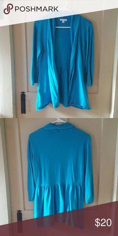 NY&C Beautiful Bright Blue Cardigan 3/4 sleeve, flowy beautiful blue Cardigan New York & Company Sweaters Cardigans