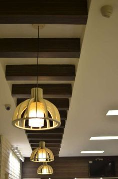 False Celing Design Ideas - Wood Accents