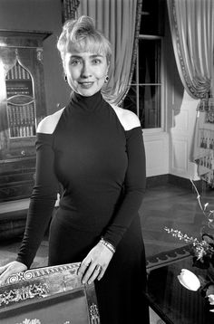 Hillary Rodham Clinton in 1993 wearing a dress by Donna Karan, announced she is stepping down from her namesake brand after 31 years. (Photo: Suzanne Dechillo/ The New York Times)