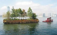 Floating urban space Rotterdam
