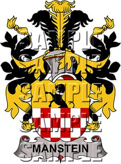 Manstein Family Crest apparel, Manstein Coat of Arms gifts