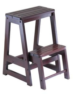 Amazon.com: Winsome Wood Step Stool, Antique Walnut: Home & Kitchen