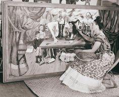Frida Kahlo painting La Mesa Herida, 1940. Bernard Silberstein.