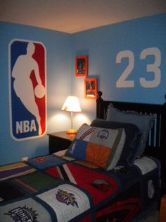 easy NBA room  #3 Dwayne Wade on the wall